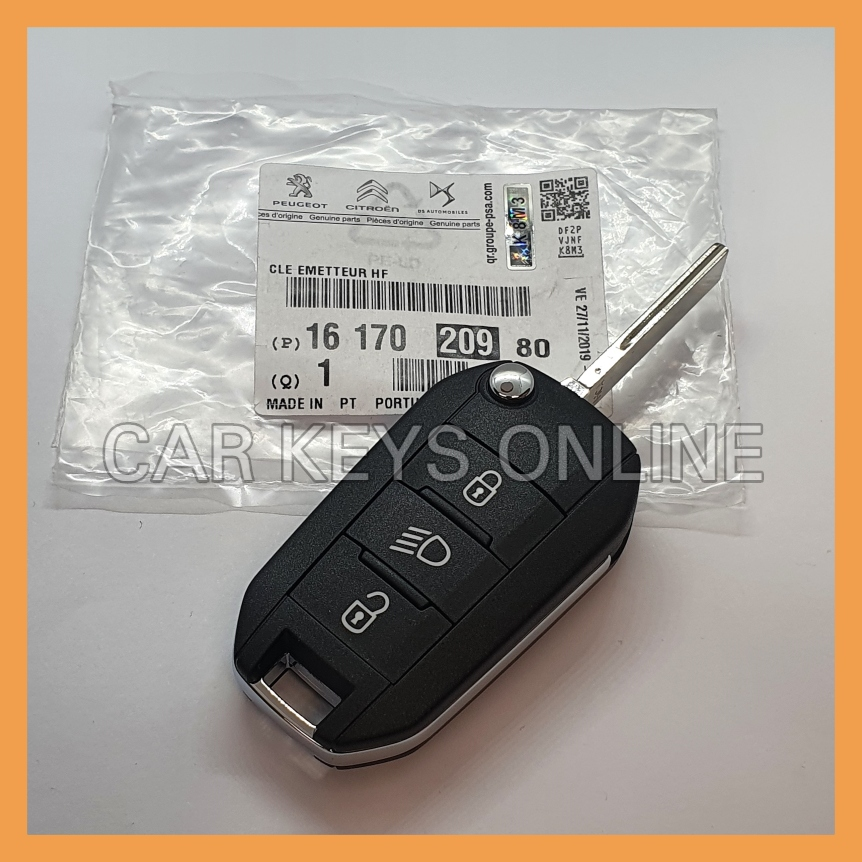 OEM Remote Key for Peugeot Expert - No Rear Doors (16 170 209 80)