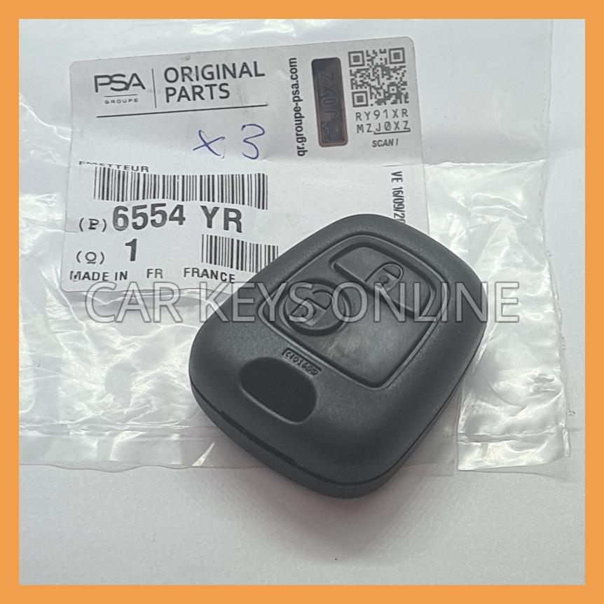 Peugeot 206 Remote Fob - With Fog Lights (6554 YR)