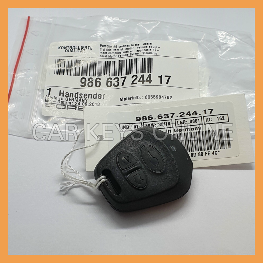 Genuine Porsche 986 3 Button Remote Key (98663724417)