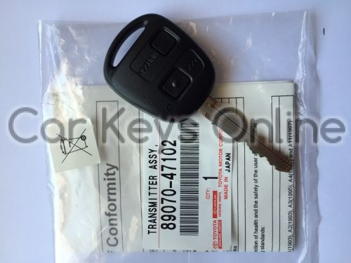 OEM 2 Button Remote Key for Toyota Celica (89070-47102)