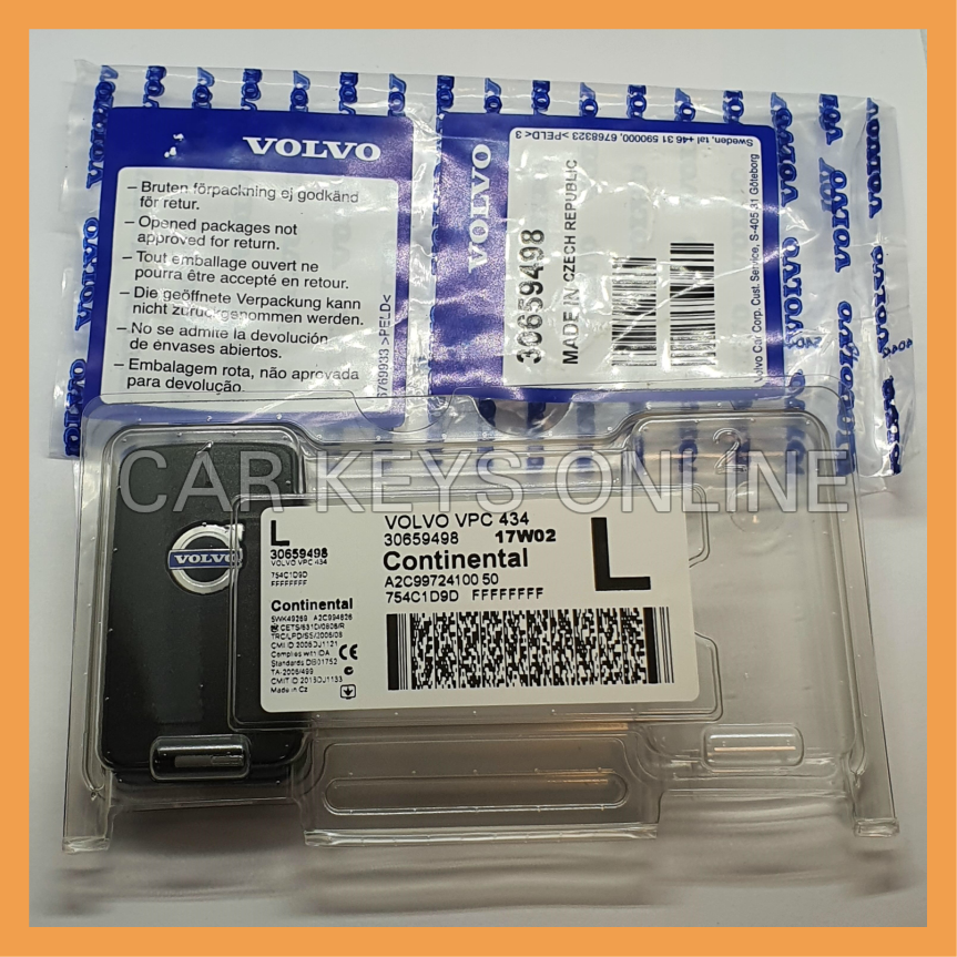Genuine Volvo 6 Button Keyless Remote (31419132) 868 Mhz