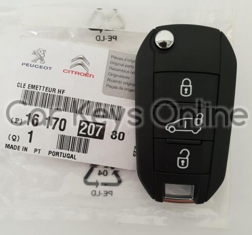 OEM Remote Key for Peugeot Expert - With Rear Doors (16 170 207 80)